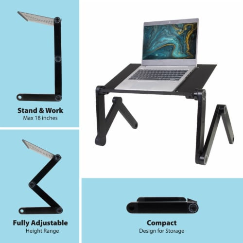 Ihip Adjustable Portable Laptop Table Stand Perspective: bottom