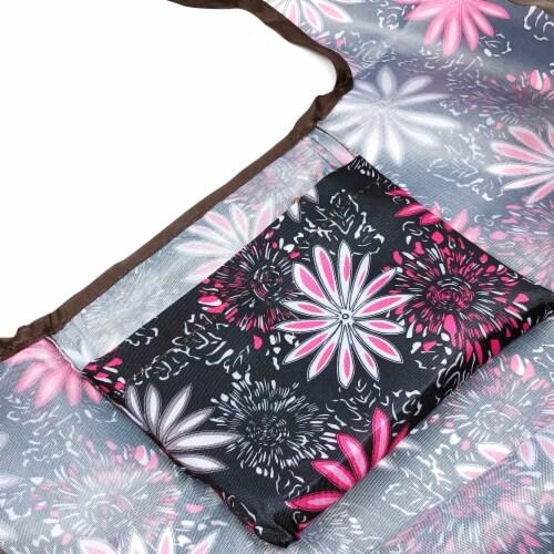 Wrapables Large Nylon Reusable Shopping Bag, Mystique Perspective: bottom