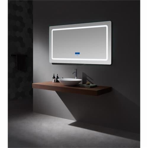 Lexora Home Caldona 60  x 32  LED Mirror with Defogger Perspective: bottom