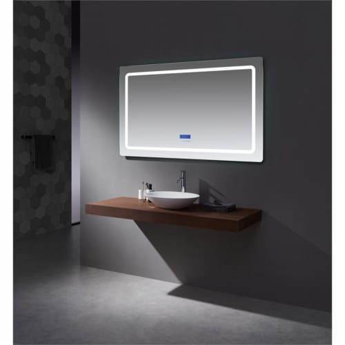 Lexora Home Caldona 60  x 36  LED Mirror with Defogger Perspective: bottom
