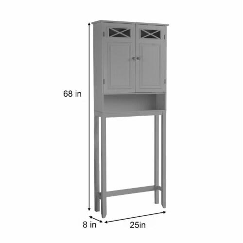 Elegant Home Fashions Wooden Over Toilet Cabinet Adjustable Shelves EHF-6803G Perspective: bottom