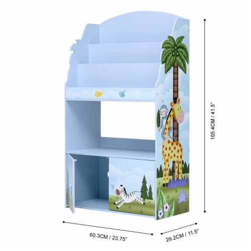 Fantasy Fields Kids Wooden Bookcase 3 Tier & Drawer Sunny Safari TD-13394SS Perspective: bottom