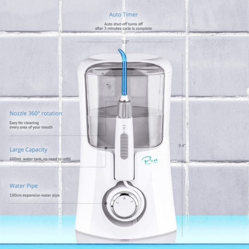 Pure Daily Care Aqua Flosser Pro with 12 Attachments Perspective: bottom