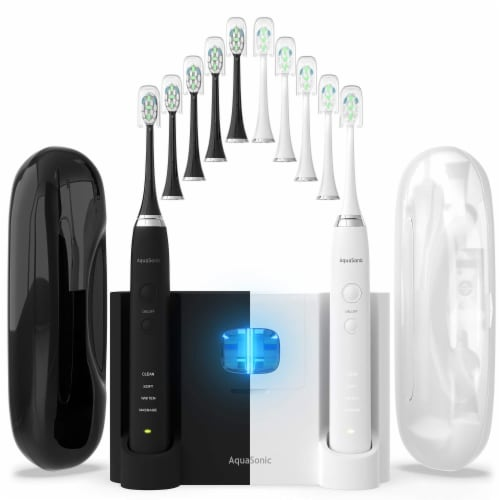 AquaSonic Duo PRO - Dual Handle Ultra Whitening Electric ToothBrushes, 2 pk Perspective: bottom
