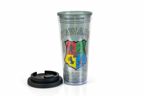 Harry Potter Hogwarts Crest 24oz Double Walled Plastic Travel Mug Perspective: bottom