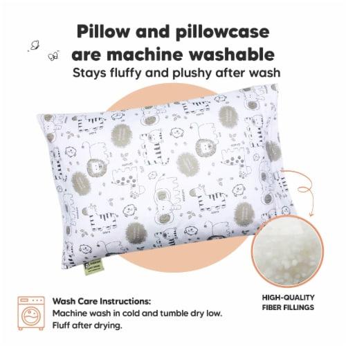 Hypoallergenic Toddler Pillow with 100% Cotton Pillowcase (KeaSafari) Perspective: bottom