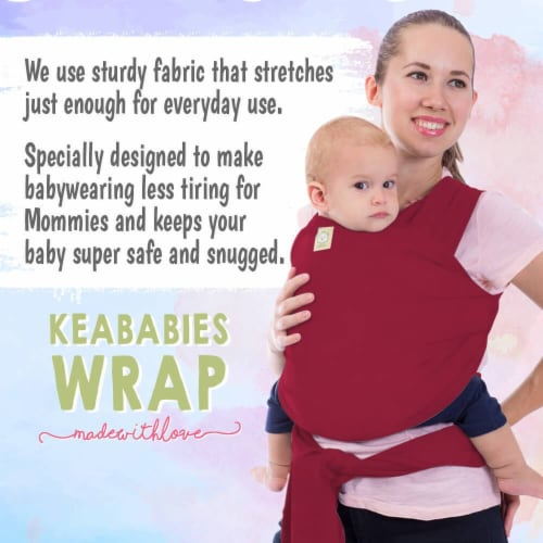 Baby Wrap Carrier (Royal Magenta) Perspective: bottom