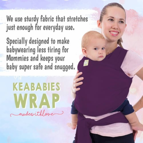 Baby Wrap Carrier (Royal Purple) Perspective: bottom