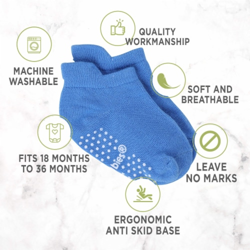 12-Pack Baby Socks (12-36 months) Perspective: bottom