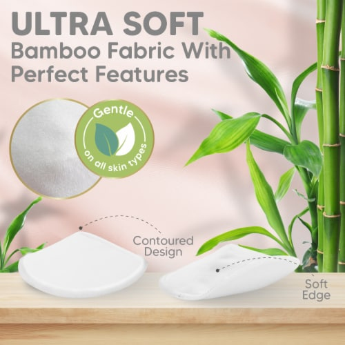 """COMFY Organic Bamboo Nursing Pads (Soft White, Large 4.8"""") Perspective: bottom"""