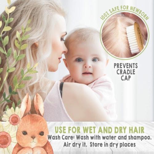 Baby Hair Brush Single Perspective: bottom