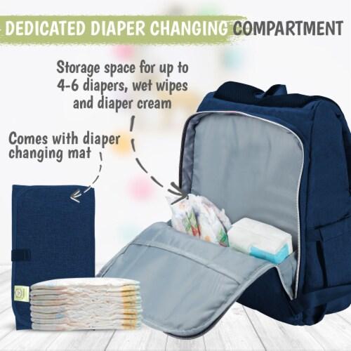 Explorer Diaper Backpack (Navy Blue) Perspective: bottom