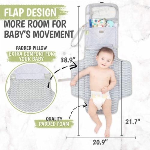 Ezee Diaper Mat (Gray Mod) Perspective: bottom