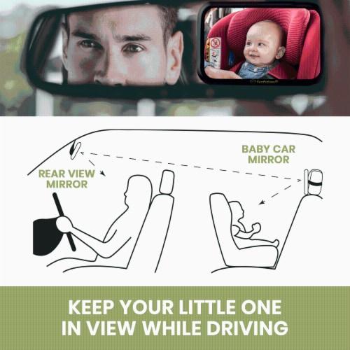 Baby Car Mirror For Rear Facing Infant Car Seat (Sleek Black) Perspective: bottom