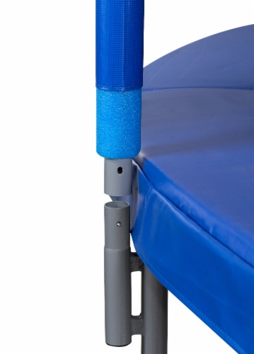 10 FT Round Trampoline Set with Safety Enclosure System - Blue Perspective: bottom