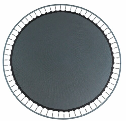 """Replacement Jumping Mat, Fits 14 ft Round Trampoline Frame with 96 V-Hooks,8.5"""" springs Perspective: bottom"""