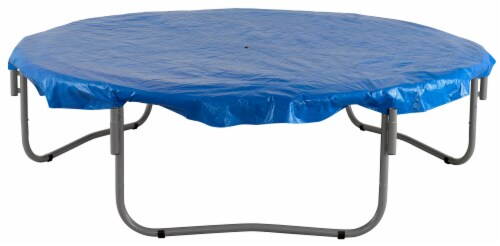 Weather-Resistant Protective Trampoline Cover, Fits 15 FT Round Frame - Blue Perspective: bottom