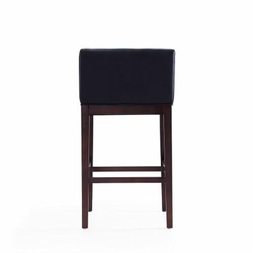 Manhattan Comfort Kingsley 38 in. Black and Dark Walnut Beech Wood Barstool Perspective: bottom