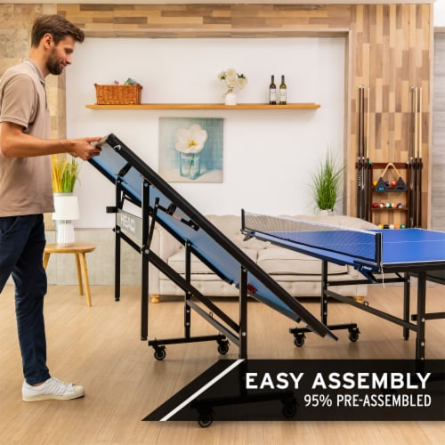 HEAD 15mm Surface Grand Slam Indoor Ping Pong Table Tennis with Net and Post Set Perspective: bottom