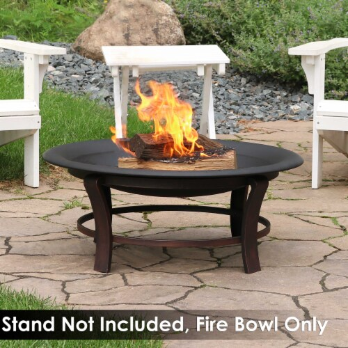Sunnydaze Outdoor Replacement Fire Bowl for DIY or Existing Stand - 39-Inch Perspective: bottom