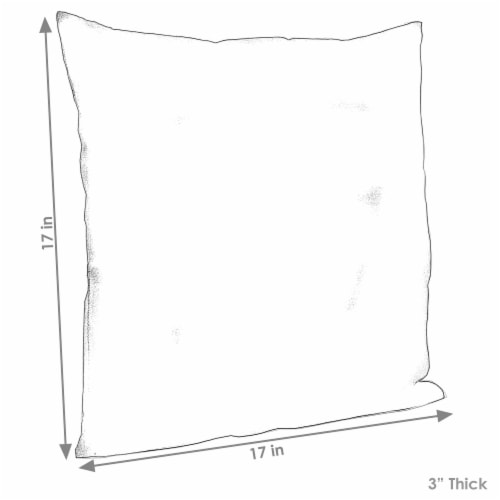 Sunnydaze 2 Outdoor Decorative Throw Pillows - 17 x 17-Inch - Chevron Bliss Perspective: bottom