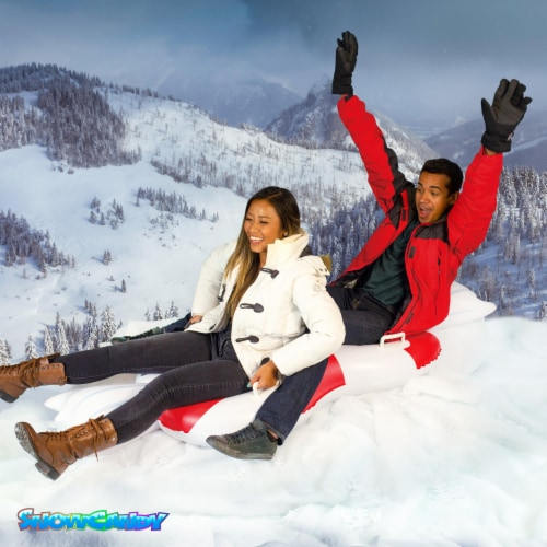 SnowCandy Inflatable Peppermint Inflatable 2-Person Snow Sled Perspective: bottom