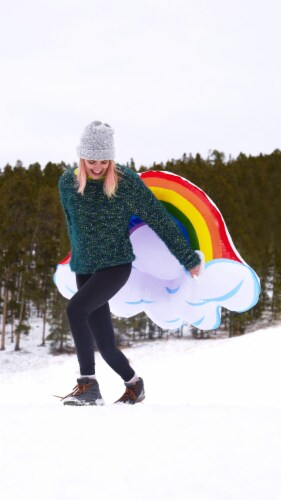 SnowCandy Inflatable Arctic Rainbow Inflatable Snow Sled Perspective: bottom