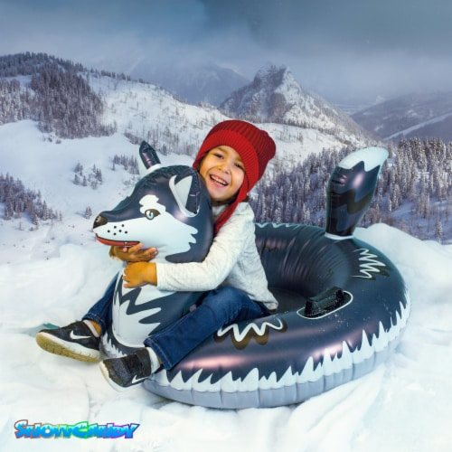 SnowCandy Inflatable Arctic Husky Inflatable Snow Sled Perspective: bottom