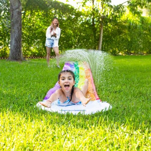 PoolCandy Backyard Water Slide - Rainbow Perspective: bottom