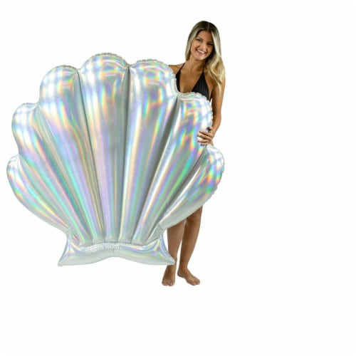 PoolCandy Mermaid Collection Oyster Shell Float Perspective: bottom