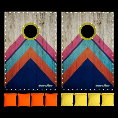 PoolCandy YardCandy Illuminated LED Cornhole Perspective: bottom