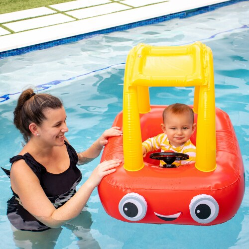 PoolCandy Little Tikes Cozy Coupe Inflatable Raft Perspective: bottom