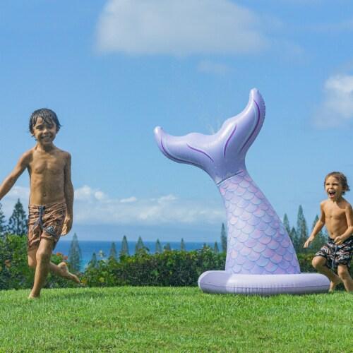 PoolCandy Inflatable Jumbo Mermaid Tail Sprinkler Perspective: bottom