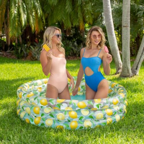 PoolCandy Lemon Inflatable Sunning Pool Perspective: bottom