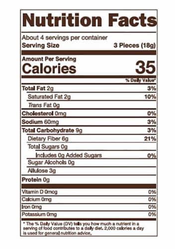 Sugar Free Coconut Milk Caramels - Sea Salt 2.75 oz. Perspective: bottom
