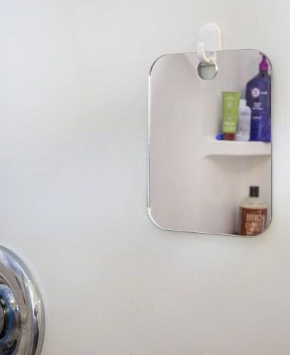 ANTI FOG SHOWER BATHROOM MIRROR PORTABLE TRAVEL SIZE MEN WOMEN CHILDREN ATHLETE SPORTS Perspective: bottom