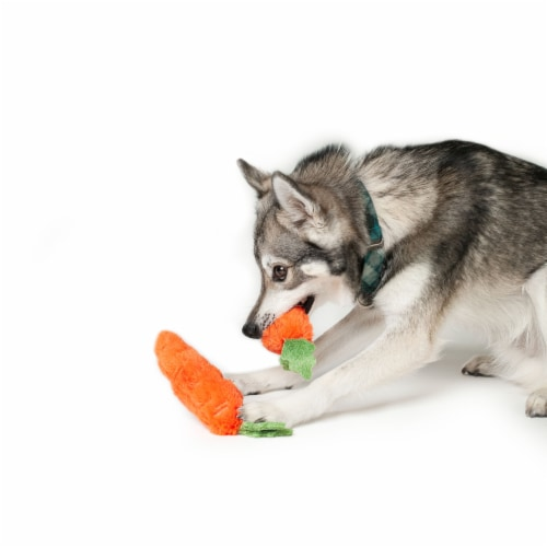 Midlee Plush Carrot Easter Dog Toy- Pack of 2 Perspective: bottom