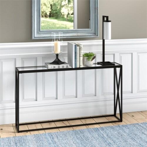 Henn&Hart 55  Black Bronze Console Table Perspective: bottom