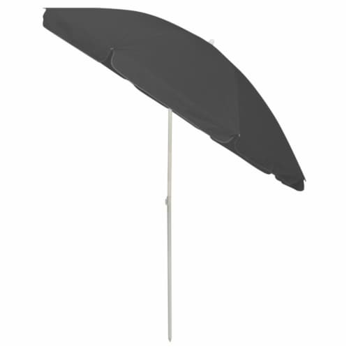 vidaXL Beach Umbrella Anthracite 94.5 Perspective: bottom