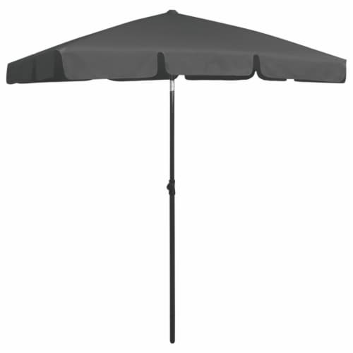 vidaXL Beach Umbrella Anthracite 70.9 x47.2 Perspective: bottom