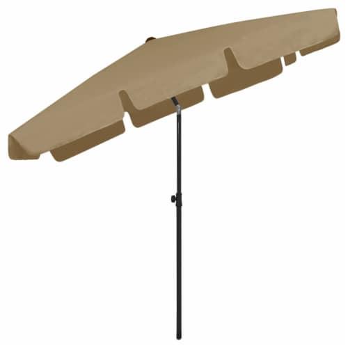 vidaXL Beach Umbrella Taupe 78.7 x49.2 Perspective: bottom