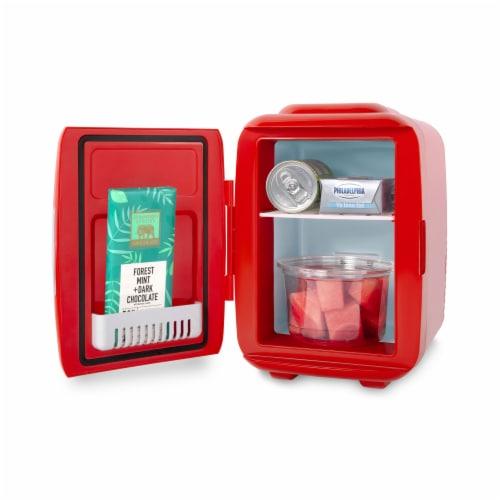 Cooluli Classic 4 Liter Portable Compact Mini Fridge - Red Perspective: bottom
