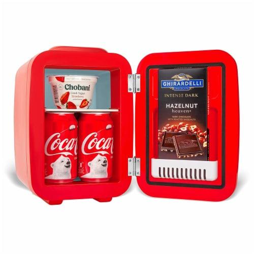 Cooluli Coca-Cola Vintage Chic 4 Liter Portable Compact Mini Fridge Perspective: bottom