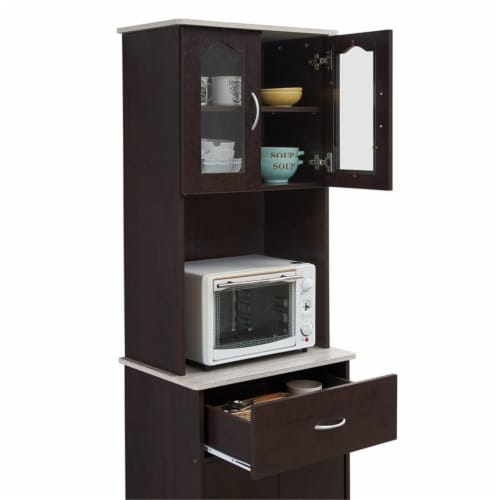 Kitchen Cabinet in Chocolate Gray - Hodedah Perspective: bottom