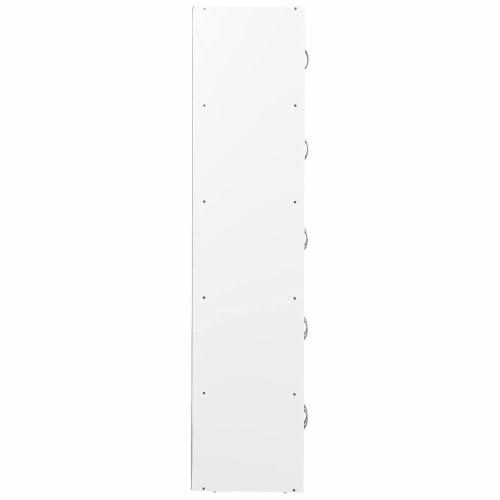 Hodedah 5-Shelf, 10-Door Bookcase in Rainbow Perspective: bottom