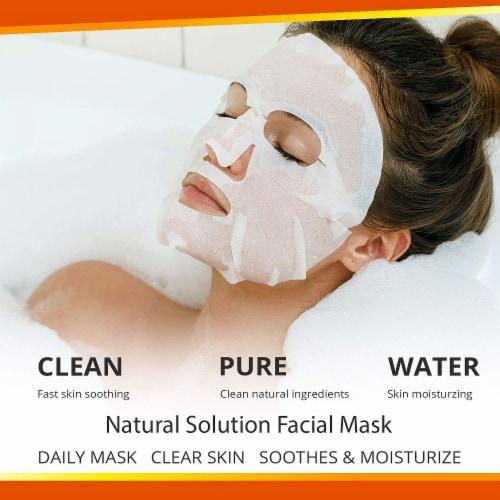 Natural Solution Facial Mask, Blood Orange & Vitamin C, Silk Mask with Pink Salt   Pack of 10 Perspective: bottom
