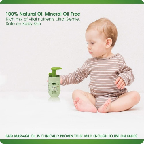 WBM Baby Care Oil, Moisturizing Body Massage Oil, 100% Natural Ingredients, Vitamin E- 4.6 Oz Perspective: bottom