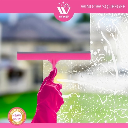 W Home Window Squeegee, Multi-Purpose, Professional Cleaning of Windows, Windshield, & Glass Perspective: bottom