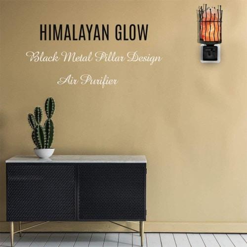 Himalayan Glow Pink Salt Wall Plug in Lamp, 360° Rotatable Base, Pillar Nightlight   2 Packs Perspective: bottom