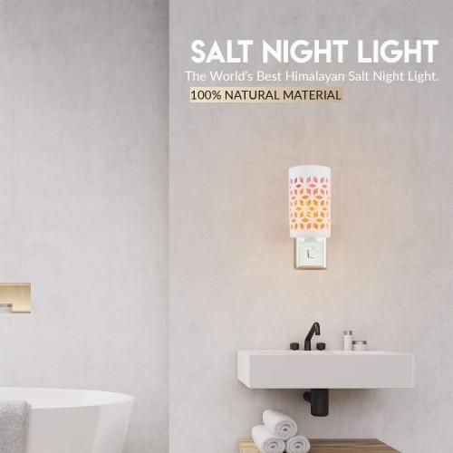 Himalayan Glow Pink Salt Lamp, Mosaic Ceramic Night Light, Wall Plug In, Rotatable | 2 Packs Perspective: bottom
